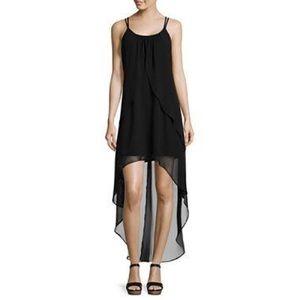 Bisou Bisou Black High Low Sheer Dress